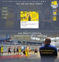EWE Baskets Oldenburg Website