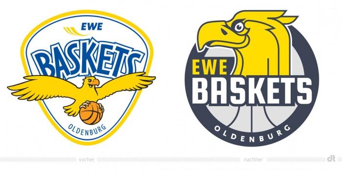 EWE Baskets Oldenburg Logo – vorher und nachher