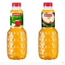 Granini Trinkgenuss Verpackungsdesign Apfel – vorher und nachher