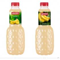 Granini Trinkgenuss Verpackungsdesign Banane – vorher und nachher