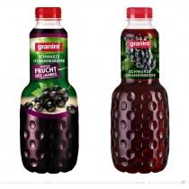 Granini Trinkgenuss Verpackungsdesign Schwarze Johannisbeere – vorher und nachher