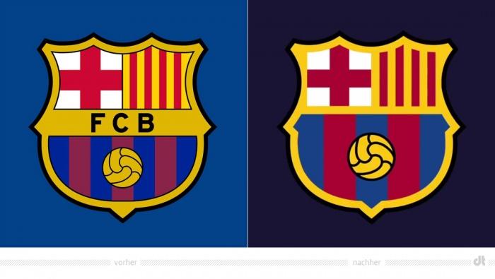 FC Barcelona Logo – vorher und nachher