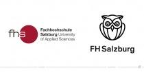 FH Salzburg Logo – vorher und nachher