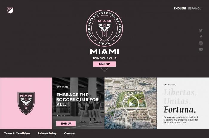 Inter Miami Website