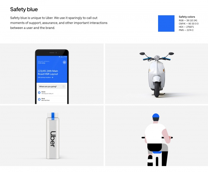 Uber Branding – Safety Blue, Quelle: Uber