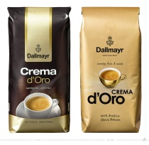 Dallmayr Crema Verpackung – vorher und nachher