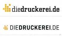 diedruckerei Logo – vorher und nachher