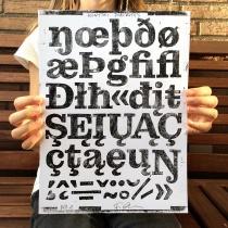 Kontiki Druckplatte Diacritics, Quelle: Felix Braden