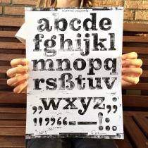 Kontiki Druckplatte Lowercase, Quelle: Felix Braden