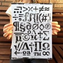 Kontiki Druckplatte Symbols, Quelle: Felix Braden