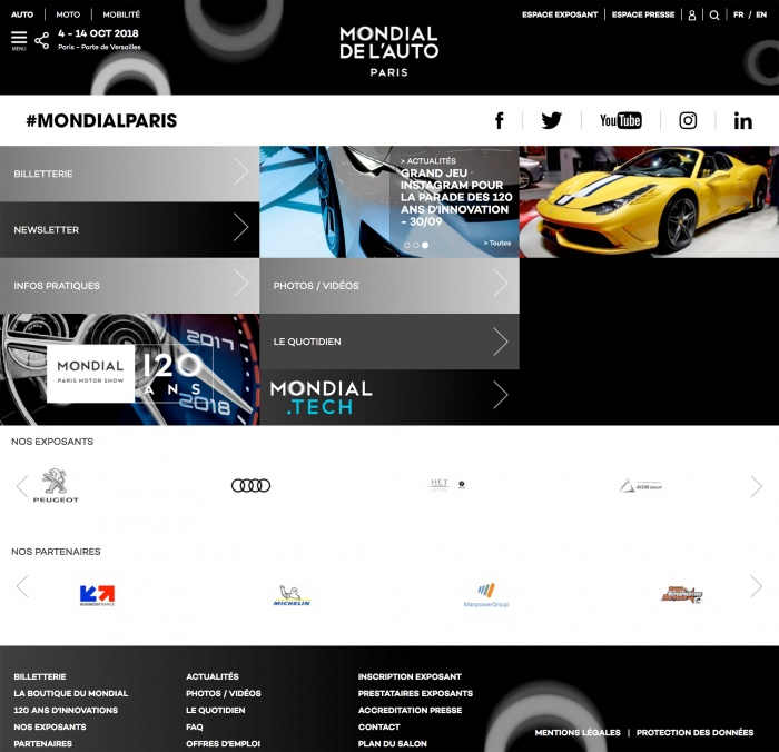 Mondial de l'Automobile – Website