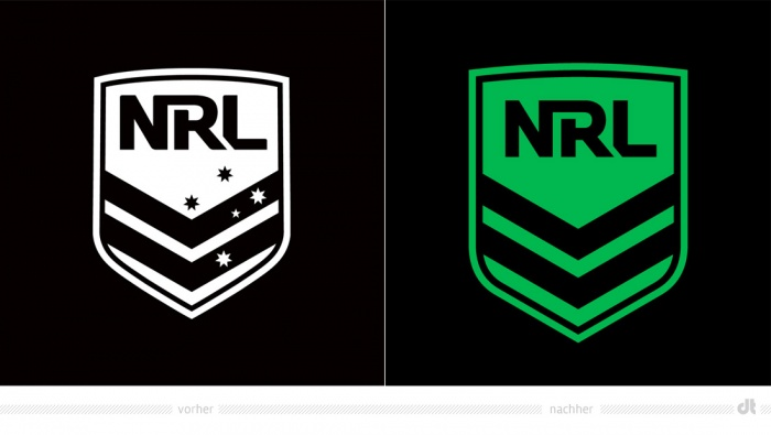 NRL Logo – vorher und nachher