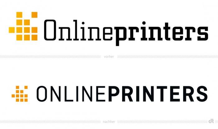 Onlineprinters Logo – vorher und nachher