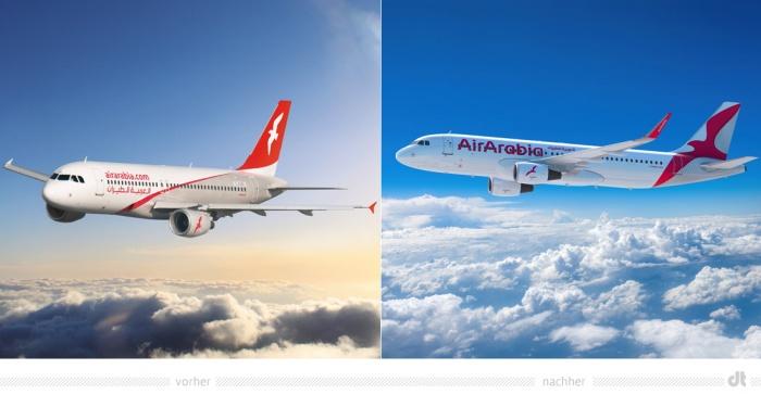 Air Arabia Aircraft – vorher und nachher