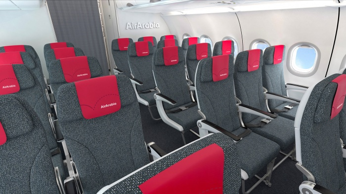 Air Arabia – new brand identity A320 Interior, Quelle: Air Arabia