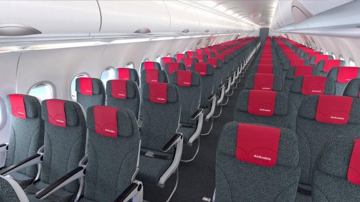 Air Arabia – new brand identity A320 Interior, Quelle: Air Arabia