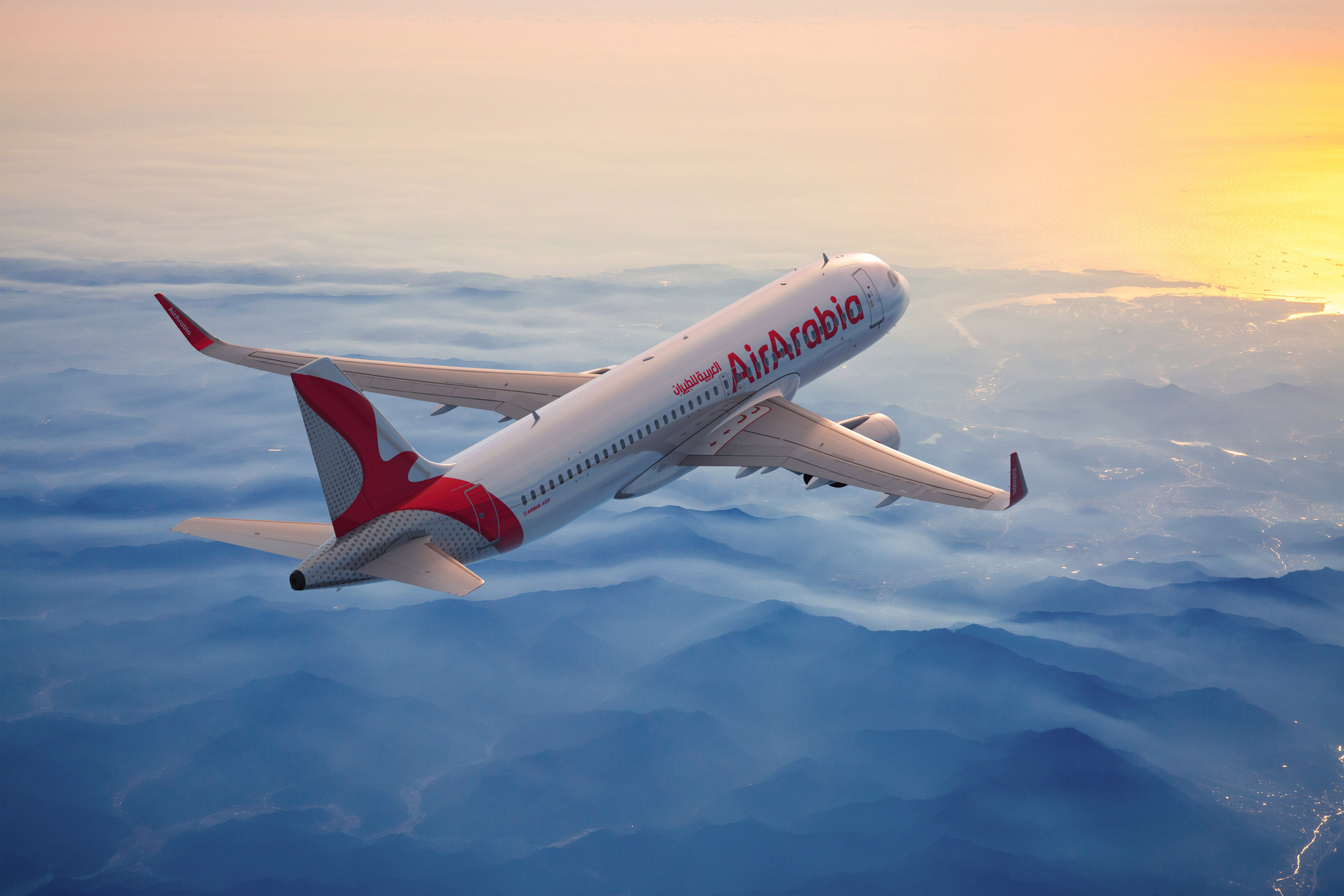 Air Arabia – new brand identity A320, Quelle: Air Arabia