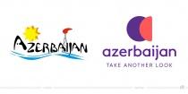 Azerbaijan Tourismus Logo – vorher und nachher