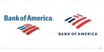 Bank of America Logo – vorher und nachher
