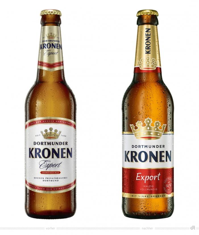Dortmunder Kronen Export – vorher und nachher