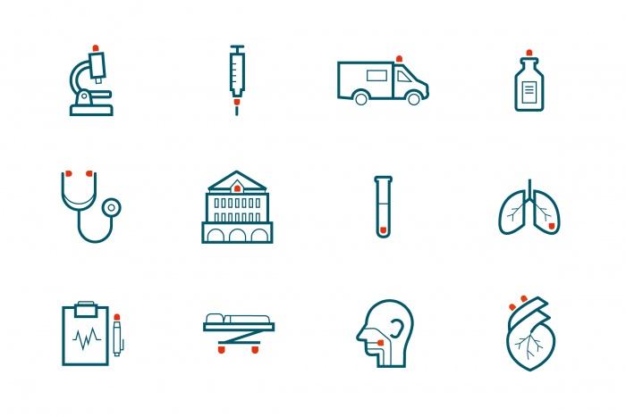 München Klinik Corporate Design, Quelle: Zeichen und Wunder