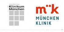 München Klinik Logo – vorher und nachher