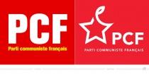 Parti communiste français PCF Logo – vorher und nachher