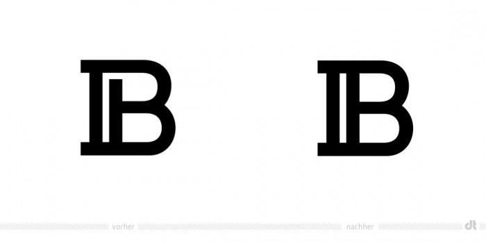 Balmain Monogram – vorher und nachher