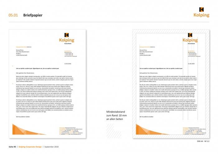 Kolping – Corporate Design Geschäftspapier, Quelle: Kolpingwerk Deutschland
