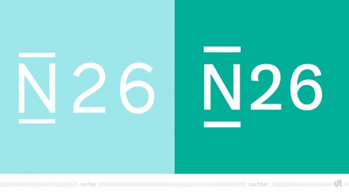 N26 Logo – vorher und nachher