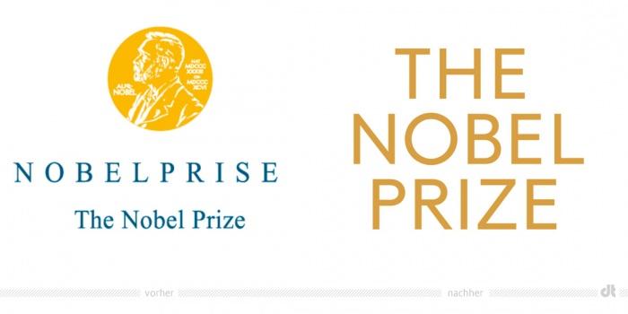 Nobelpreis Logo – vorher und nachher