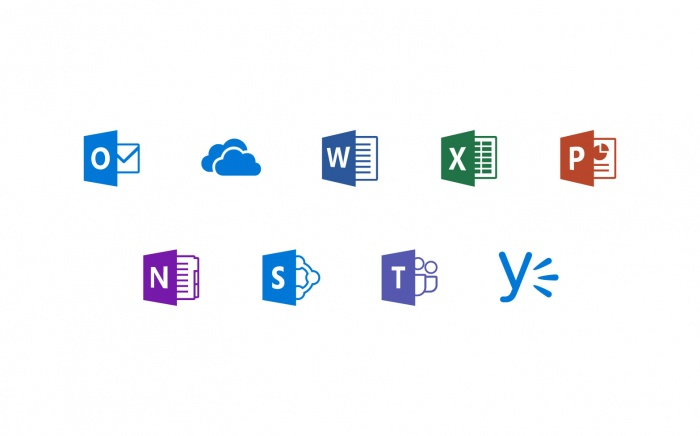 Microsoft Office 365 Icons, Quelle: Microsoft