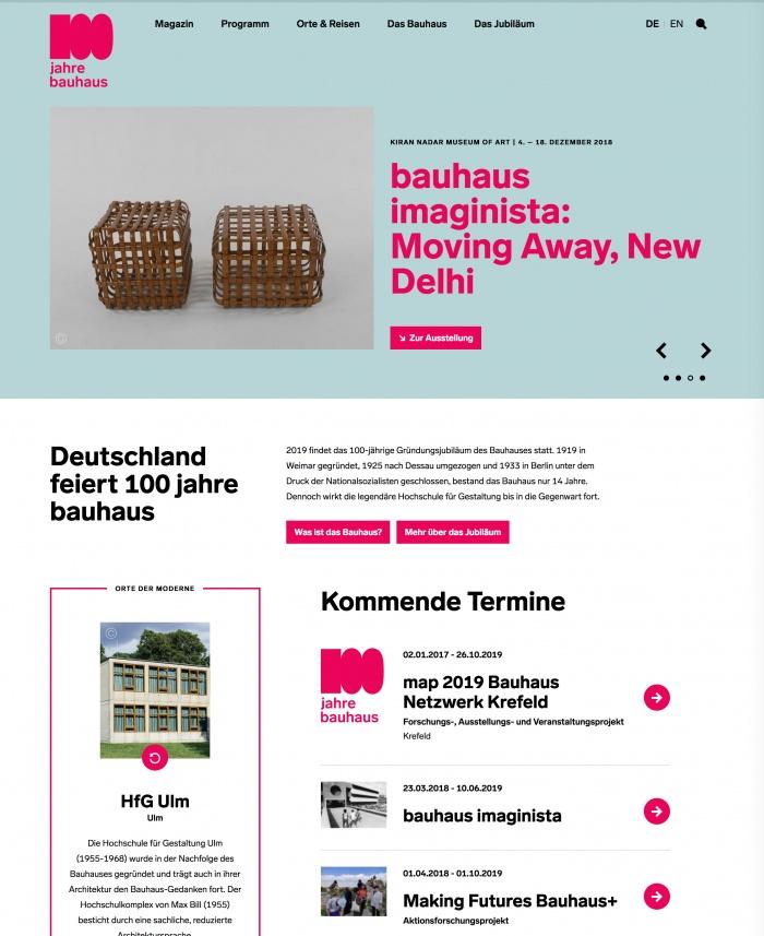 100 Jahre Bauhaus – Website