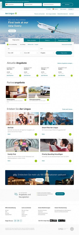 Aer Lingus Website