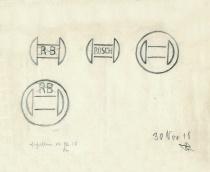 Bosch Logo – Entwurf von Gottlob Honold (1918), Quelle: Robert Bosch GmbH