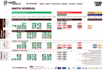 Handball WM Match-Schedule