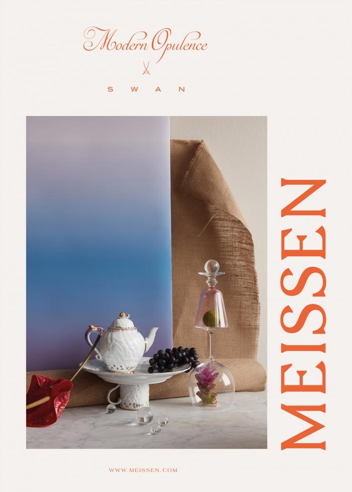 Meissen Anzeige Swan, Quelle: Staatliche Porzellan-Manufaktur Meissen