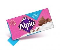 Alpia Schokoladentafeln Alpenvollmilch, Quelle: Stollwerck