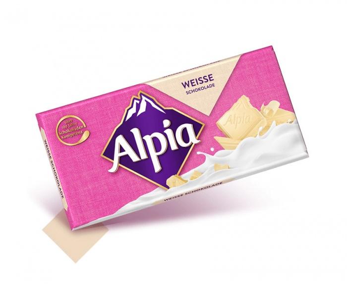 Alpia Schokoladentafeln Weisse, Quelle: Stollwerck