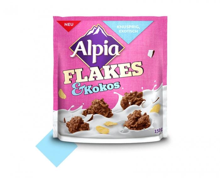 Alpia Schokosnacks Flakes Kokos, Quelle: Stollwerck