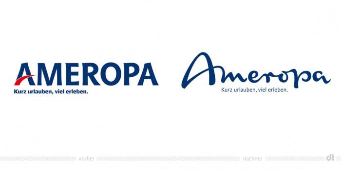 Ameropa Logo – vorher und nachher