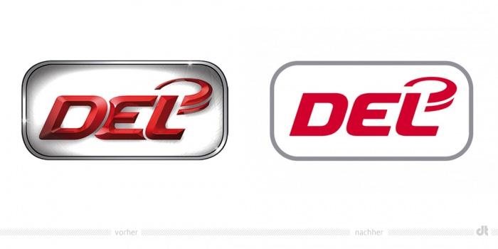 DEL Logo – vorher und nachher