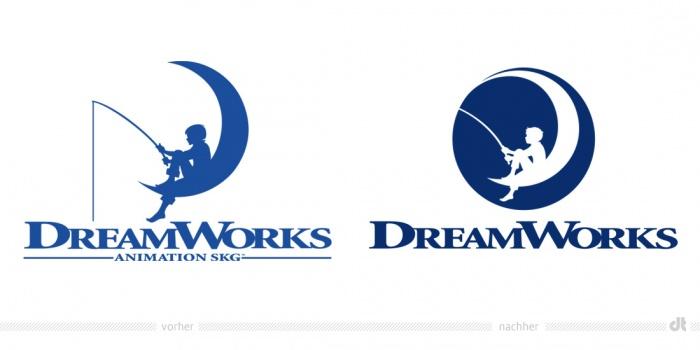 Dreamworks Logo – vorher und nachher