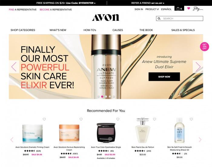 Avon.com Website