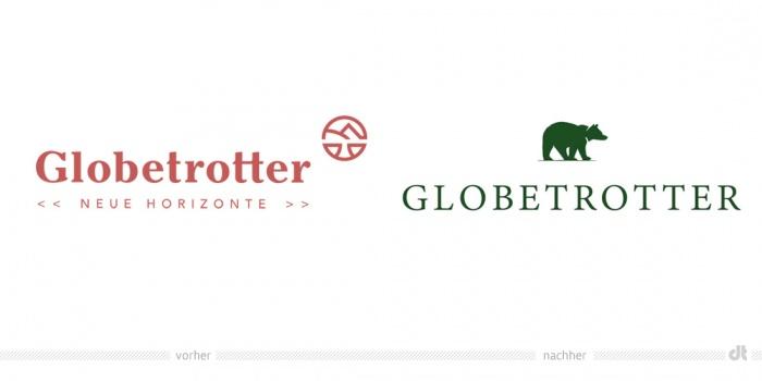 Globetrotter Logo – vorher und nachher