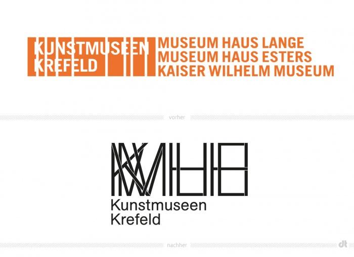 Kunstmuseen Krefeld Logo – vorher und nachher