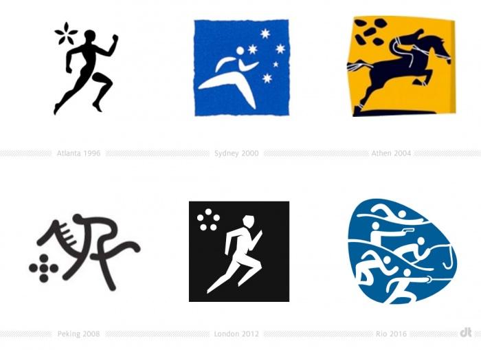 Moderner Fünfkampf Piktogramme