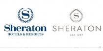 Sheraton Logo – vorher und nachher