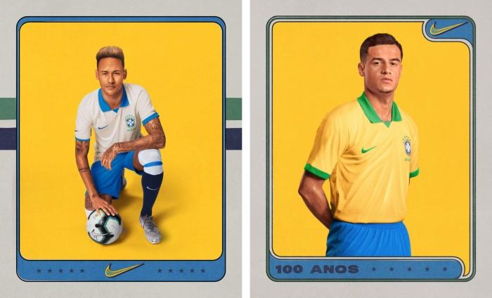 Trikots der brasilianischen Nationalmannschaft (2019), Quelle: CBF