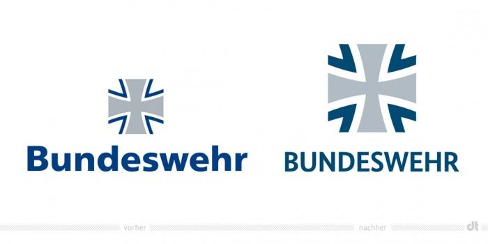 Bundeswehr Logo – vorher und nachher